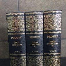 Libros: 2004. PROUST. OBRAS COMPLETAS. AGUILAR. 3 TOMOS. OBRA COMPLETA EN 3 TOMOS.. Lote 288969413