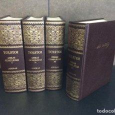 Libros: 2004. LEON TOLSTOI. OBRAS COMPLETAS. 4 TOMOS. AGUILAR.. Lote 288969433