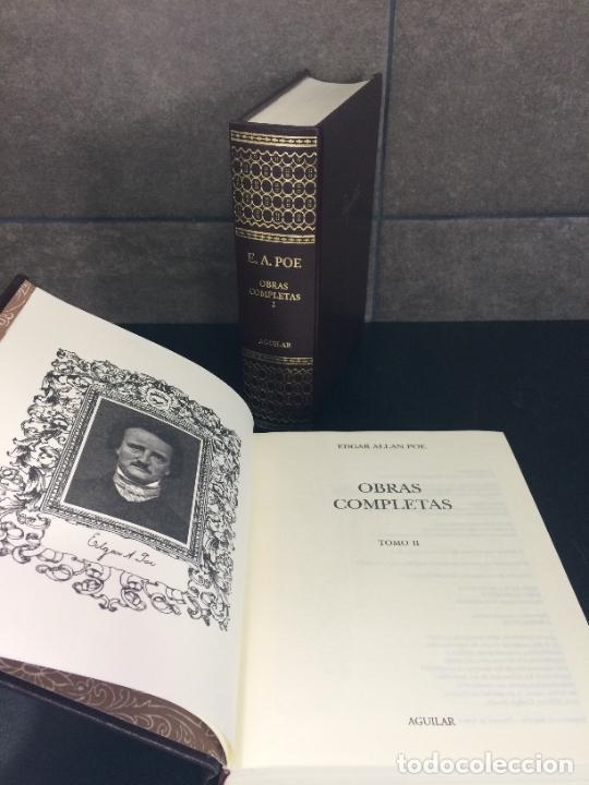 Libros: 2004. EDGAR ALLAN POE. OBRAS COMPLETAS. 2 TOMOS. AGUILAR. - Foto 3 - 288969448