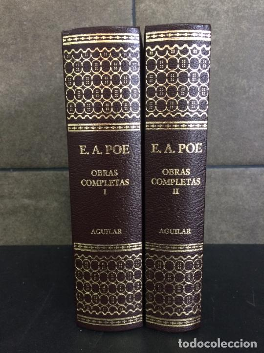 2004. EDGAR ALLAN POE. OBRAS COMPLETAS. 2 TOMOS. AGUILAR. (Libros sin clasificar)