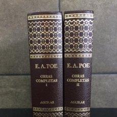 Libros: 2004. EDGAR ALLAN POE. OBRAS COMPLETAS. 2 TOMOS. AGUILAR.. Lote 288969448