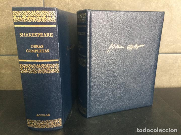 Libros: 2004. SHAKESPEARE. OBRAS COMPLETAS. 2 TOMOS. AGUILAR. - Foto 2 - 288969453