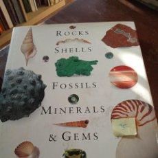 Libros: ROCKS SHELLS FOSSILS MINERALS & GEMS. Lote 289254793
