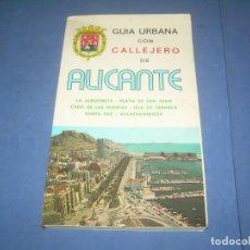 Libros: GUÍA URBANA CON CALLEJERO DE ALICANTE. ANTIGUO, AÑO?... LIBRO. Lote 289373793
