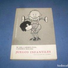 Libros: JUEGOS INFANTILES. CARMEN PUIG Y CÁNDIDO MACÍAS. DIPUTACIÓN CÁCERES, EL BROCENSE 2002. LIBRO. Lote 289373918