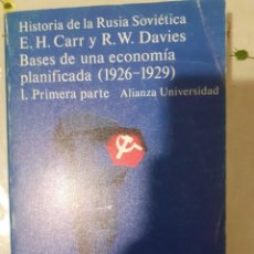 Libros: HISTORIA DE LA RUSIA SOVIETICA. BASES DE UNA ECONOMIA PLANIFICADA (1926-1929) 1 PRIMERA PARTE. Lote 289374578