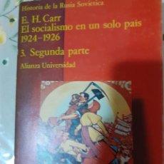 Libros: HISTORIA DE LA RUSIA SOVIETICA . EL SOCIALISMO EN UN SOLO PAIS 1924-1926 3 SEGUNDA PARTE. Lote 289374778