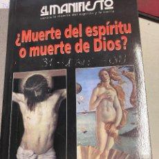 Libros: ESPARZA / RUIZ PORTELLA, JOSE / JAVIER. - ¿MUERTE DEL ESPIRITU O MUERTE DE DIOS?.. Lote 289482838