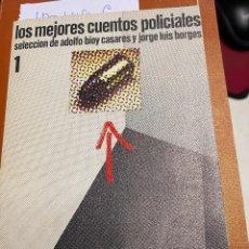 Libros: CASARES / BORGUES, ADOLFO BIOY / JORGE LUIS. - LOS MEJORES CUENTOS POLICIALES.. Lote 289482873