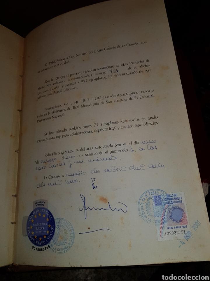 Libros: EXCELENTE FACSIMIL PROFECIAS DE NOSTRADAMUS N 761 DE 1000 EJEMPLARES - Foto 2 - 289638633
