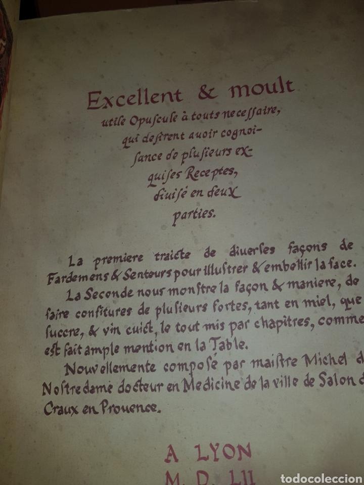 Libros: FACSÍMIL TRATADO DE LA BELLEZA Y DE LAS CON FIGURAS DE NOSTRADAMUS - Foto 2 - 289639598