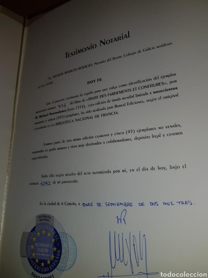 Libros: FACSÍMIL TRATADO DE LA BELLEZA Y DE LAS CON FIGURAS DE NOSTRADAMUS - Foto 5 - 289639598