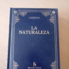 Libros: LUCRECIO LA NATURALEZA. Lote 289692298
