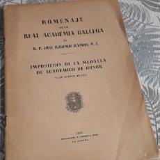 Libros: HOMENAJE DE LA REAL ACADEMIA GALLEGA AL R.P. JOSÉ RUBINOS RAMOS, S.L.. Lote 289700463