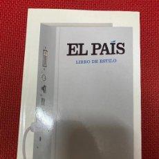 Libros: EL PAÍS, LIBRO DE ESTILO. VVAA. AGUILAR, 2014.. Lote 289875678