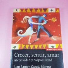 Libros: LIBRO-CRECER,SENTIR,AMAR-JUAN RAMÓN GARCÍA MORATO-EUNSA ASTROLABIO-1ªEDICIÓN-2002-COLECCIONISTAS.. Lote 289915523