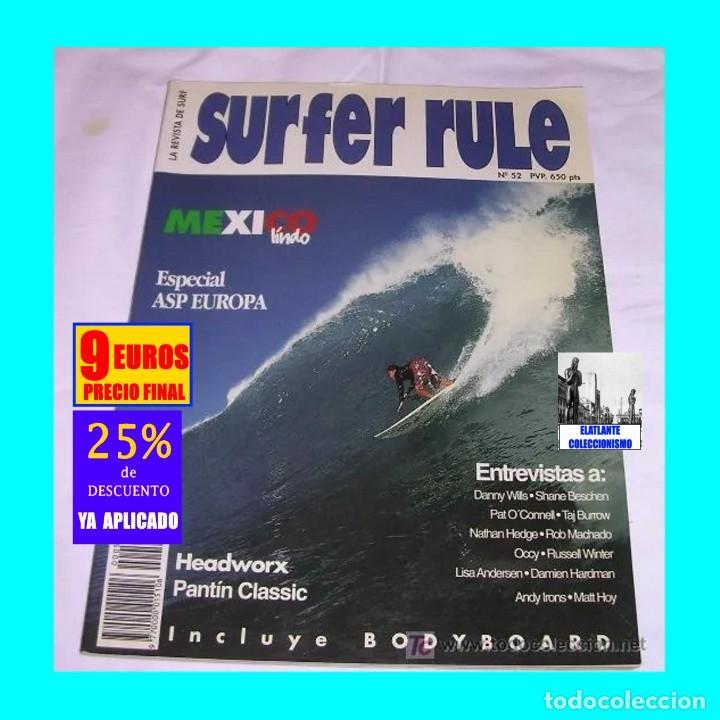 SURFER RULE - NÚMERO 52 - NOVIEMBRE - DICIEMBRE - 1998 - BUEN ESTADO - TEMA SURF - 9 EUROS FINAL (Libros sin clasificar)