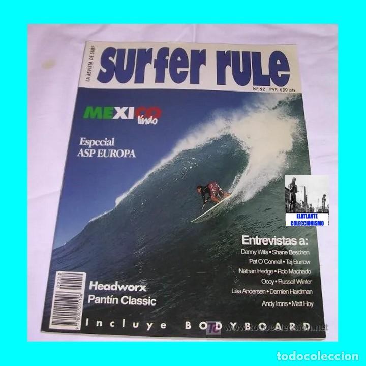 Libros: SURFER RULE - NÚMERO 52 - NOVIEMBRE - DICIEMBRE - 1998 - BUEN ESTADO - TEMA SURF - 9 EUROS FINAL - Foto 2 - 289527333
