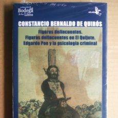 Libros: FIGURAS DELINCUENTES EN EL QUIJOTE/EDGARDO POE Y LA PSICOLOGÍA CRIMINAL. CONSTANCIO B. DE QUIRÓS. Lote 290750178