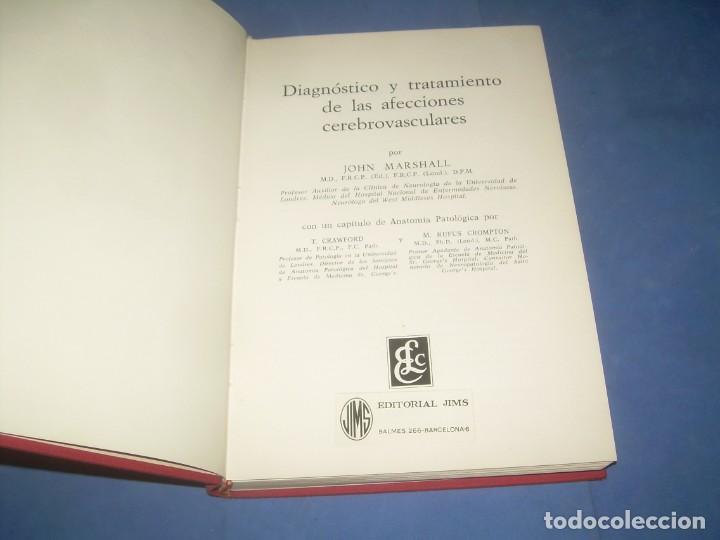 DIAGNÓSTICO Y TRATAMIENTO DE AFECCIONES CEREBROVASCULARES. JOHN MARSHALL. ELICIEN-JIMS 1970 LIBRO ME (Libros sin clasificar)