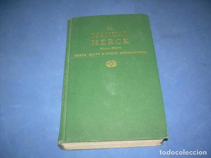 EL MANUAL MERCK DE DIAGNÓSTICO Y TERAPÉUTICA. DOHME LABORATORIOS 1968 LIBRO MEDICINA (Libros sin clasificar)