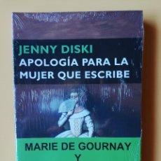 Libros: APOLOGÍA PARA LA MUJER QUE ESCRIBE. MARIE DE GOURNAY Y MONTAIGNE - JENNY DISKI. Lote 293714863