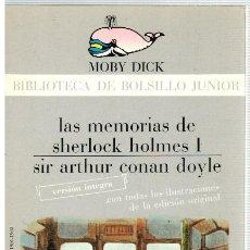 Libros: LAS MEMORIAS DE SHERLOCK HOLMES I O 1 - SIR ARTHUR CONAN DOYLE. Lote 293898948