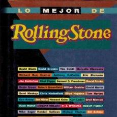 Libros: LO MEJOR DE ROLLINGSTONE. UNA LÚCIDA CRÓNICA DE NUESTRO TIEMPO.-. Lote 293958733
