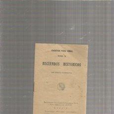 Libros: CUENTOS PARA NIÑOS TOMO 70 RECUERDOS HISTORICOS. Lote 294023668