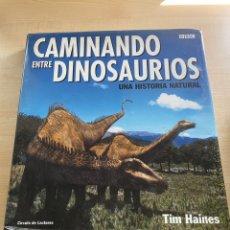 Libros: CAMINANDO ENTRE DINOSAURIOS. Lote 294826518