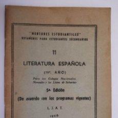 Libros: MENTORES ESTUDIANTILES - LITERATURA ESPAÑOLA - 1956 - BUENOS AIRES - TDK224 -. Lote 294944783