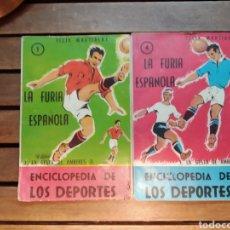 Libros: ENCICLOPEDIA DE LOS DEPORTES. LA FURIA ESPAÑOLA. LA GESTA DE AMBERES 1 Y 2. 1957 ARPEM. Lote 295467603