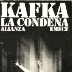 Libros: LA CONDENA - KAFKA, FRANZ. Lote 295491323