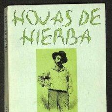 Libros: HOJAS DE HIERBA. - WALT WHITMAN. Lote 295493873