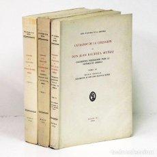 Libros: CATÁLOGO DE LA COLECCIÓN DE DON JUAN BAUTISTA MUÑOZ. 3 TOMOS. Lote 295632053