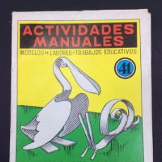 Libros: ACTIVIDADES MANUALES EN HOJALATA - Nº 41 - EDITORIAL MIGUEL A SALVATELLA. Lote 295807508