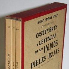 Libros: COSTUMBRES Y LEYENDAS DE LOS PIELES ROJAS. 3 TOMOS - HUNGRY WOLF, ADOLF (LOBO HAMBRIENTO). Lote 296593748