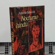 Libros: NOCTURNO HINDÚ - ANTONIO TABUCCHI. Lote 296713353