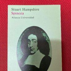 Libros: SPINOZA. STUART HAMPSHIRE. ALIANZA, 1982.. Lote 296763973