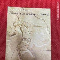 Libros: FILOSOFÍA DE LA CIENCIA NATURAL. CARL G. HEMPEL. ALIANZA, 1977.. Lote 296764225