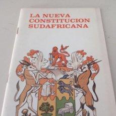 Libros: LA NUEVA CONSTITUCIÓN SUDAFRICANA REF. UR EST. Lote 296785578
