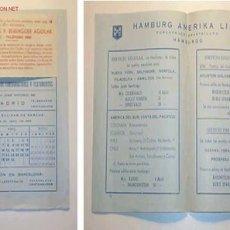 Líneas de navegación: ITINERARIO CENTRAMARES,S.L.CENTRAL MARITIMA DE CONSIGNACIONES Y FLETAMENTOS,MES DE ABRIL DE 1953. Lote 9000421