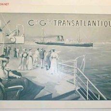Líneas de navegación: ITINERARIO DE LA COMPAÑIA GENERAL TRASATLANTIQUE,ESCRITO EN FRANCES.. Lote 17976859
