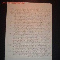 Líneas de navegación: CONTRATO DE COMPRA-VENTA DE LA FRAGATA AMERICANA SPISFIRE,CADIZ 6/09/1860. Lote 14913263
