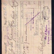 Líneas de navegación: CADIZ A VIGO ** CONOCIMIENTO DE EMBARQUE ** AÑO 1897 ** NAVEGACION ** 24-12-1897. Lote 24226815