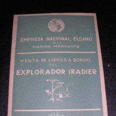 Líneas de navegación: LIBRILLO EMPRESA NACIONAL ELCANO DE LA MARINA MERCANTE, DISTRIBUIDORA GENERAL DE LIBROS,CATALOGO1948. Lote 9207915