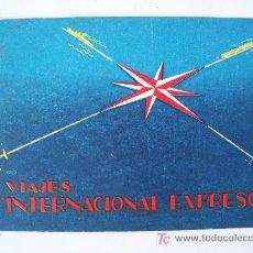 Líneas de navegación: CARNET DE VIAJE ´ DIORAMA DE ITALIA ´, VIAJES INTERNACIONAL EXPRESSO, 1959. Lote 22776646