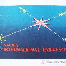 Líneas de navegación: CARNET DE BONOS ´ BRUSELAS ´, VIAJES INTERNACIONAL EXPRESSO, 1958 (2 PERSONAS). Lote 22776649