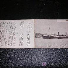 Líneas de navegación: FOLLETO CORREOS DEL PLATA, COMPAÑIA TRASATLANTICA, VAPORES CORREOS ESPAÑOLES, 2 HOJAS. Lote 10453573