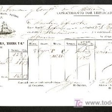 Líneas de navegación: .CONOCIMIENTO DE EMBARQUE VAPOR ESPAÑOL -SOFIA- DESTINADO A SANTANDER, . Lote 11469751